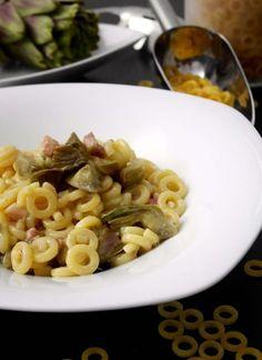 Pasta risottata carciofi e pancetta. Provala con #Andalinilatuapasta! www.andalini.com