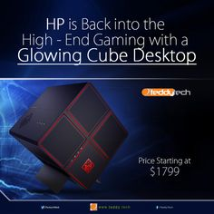HP is re-entering the high-end gaming space with a new device called 'Omen X Desktop' and it is considered to be powerful to handle 4K and VR gaming. It has a Cube shape which separates the components (GPU, power unit, hard drives, 4 swappable hard drive trays) into different chambers and the price range will be starting at $1799.  #hp #gaming #version #omexx #desktop #omenxdesktop #gpu #cube #tech #technlogy #news