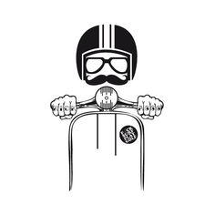 Check out this awesome 'Vespa+Hipster' design on - Thomas & Vespa - Motorrad Lambretta, Piaggio Vespa, Vespa Scooters, Poster Retro, Vintage Posters, Vespa Illustration, Hipster Illustration, Vespa Logo, Dessin Old School