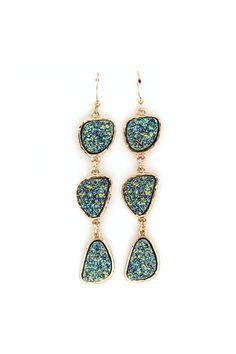 Druzy Illy Earrings on Emma Stine Limited. Love.