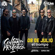 OMG Cultura Profética este próximo 08 de julio en el El Trompo  Más detalles sobre boletos próximamente...  #4live #Tijuana #concierto