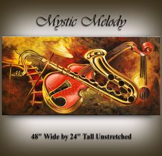 Original contemporary music art Mystic by ContemporaryArtDaily, $800.00 Violin Painting, Abstract Paintings, Modern Art, Contemporary Art, Jazz Art, Original Music, Art For Sale, Mystic, Giclee Print