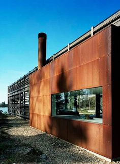 Exterior - Appealing Wall H House Design Showing Brown Wall And Glass Windows Framed That Make Stylish The Decor: Elegant Swedish House Design Ideas with Wooden Exterior