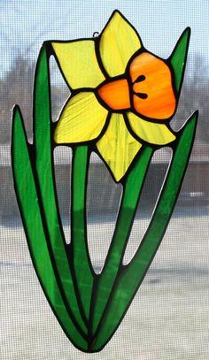 Stained Glass Daffodil Suncatcher