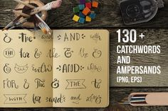 Handdrawn Catchwords Set (PNG, EPS) by Favete Art on Creative Market