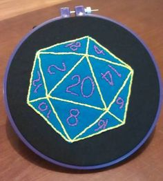 The perfect hoop for me since I started playing DnD - my very own d20 hoop from charlieandwillow.