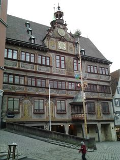 Tuebingen, Germany -- townhall Feb 2012 - Iremember that place. Used to live there. It is still the same.