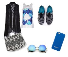 white by r2005g on Polyvore featuring moda, adidas, MANGO and Balmain