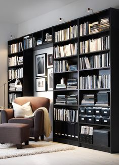Apartment furniture ideas ikea billy bookcases New ideas