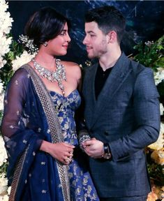Priyanka Chopra And Nick Jonas Look Like A Dream As They Host Their Wedding Reception In Mumbai - HungryBoo Celebrity Couples, Celebrity Weddings, Celebrity Style, Priyanka Chopra Wedding, Romantic Updo, Nick Jonas, Indian Celebrities, Top Celebrities, Royal Weddings