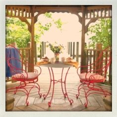 Red bistro set from kmart commercial.