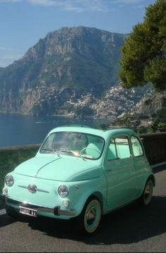 light blue old cars ~ hellblaue alte autos light blue old cars ~ Modified old cars; American old cars; Cartoon old cars Fiat Cinquecento, Fiat Abarth, Fiat 500c, Motos Vespa, Automobile, Mini Car, Continental, Cute Cars, Car Wheels