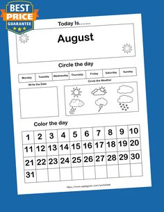 12 Printable Preschool Calendar Worksheet Pages. Month, Day, Date, Weather. Interactive Home school Notebook Calendar Worksheets, Printable Calendar Template, Writing Worksheets, Worksheets For Kids, Printable Worksheets, Printables, Kindergarten Learning, Kindergarten Math Worksheets, Kids Learning