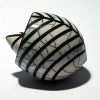Eric Moss Seedpods - raku ceramics