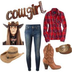 DIY: Cowgirl Costume by Mano y Metal by manoymetal on Polyvore featuring American Eagle Outfitters, 7 For All Mankind, MIA and Nocona