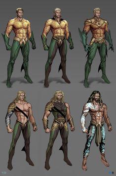 Dc Comics Superheroes, Dc Comics Characters, Dc Comics Art, Anime Comics, Superhero Art Projects, Superhero Design, Aquaman Villains, Aquaman Comics, Superhero Poster