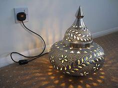 Moroccan Silver Floor Lamp | eBay