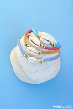 Bracelet Cauri - Cuir souple - Ocean – PAMALAKA - Créateur de bijoux boho chic