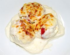 Tapas, Spanish Food, Canapes, Mashed Potatoes, Eggs, Breakfast, Ethnic Recipes, Mina, Bechamel