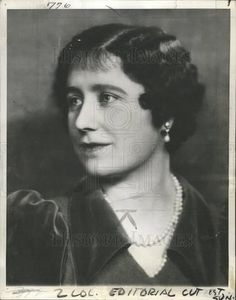 1937 Press Photo QUEEN ELIZABETH PHOTO - Historic Images