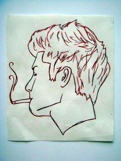 One Direction Zayn Malik Smoking Sketch
