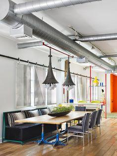 Quirky Industrial Loft — Cobalt + Gold    #interiordesign #interiorinspiration #diningroom #blog