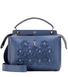DotCom blue leather shoulder bag