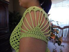 Diseño de mangas para vestido al crochet | Crochet y dos agujas