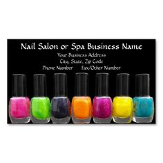 Nail technician manicurist business card appointment business colorful polish bottles nail salon appointment business card this is a fully customizable business reheart Gallery