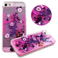 Cases For Iphone 4,Cases For Iphone 4S,Plastic Cases for iphone 4s,Hard Covers For Iphone 4 4s ,UZZO™Creative Design 3D Transparent Fantastic Free Flowing Liquid Floating Flower Butterfly And Heart Pattern Plastic Hard Back Case Cover For iPhone 4/4S,With 1Free Keyring UZZO