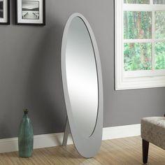 Monarch Contemporary Oval Cheval Mirror - 59H in. - I 33