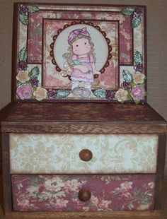 handmade altered jewelry box with easel card