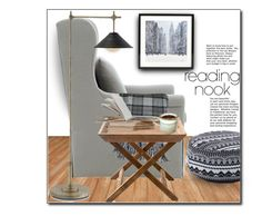 """""""My reading nook"""" by luvfashn ❤ liked on Polyvore featuring interior, interiors, interior design, home, home decor, interior decorating, Donna Wilson, Bernhardt, Faribault Woolen Mill Co. and Nook"""