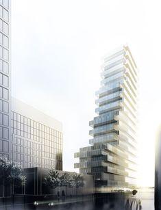 new office tower schnirchgasse 11 . vienna Dominique Perrault architecture