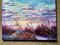 "16x20 acrylic "" new day dawn"" original artwork by Sandra Schmocker"