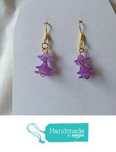 Purple Flower Earrings from Southern Women Crafts http://www.amazon.com/dp/B01CIPQ4XQ/ref=hnd_sw_r_pi_dp_n7w.wb1SGSH6D #handmadeatamazon