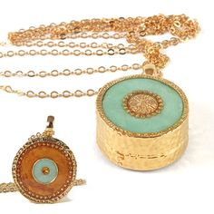 Mint necklace Gold Necklace LONG 14K gold filled by @SigalitAlcalai, $56.00