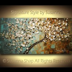 ORIGINAL Tree Painting  Large Textured White by ModernHouseArt, $545.00    Obsessed with this. However a bit out of the budget.
