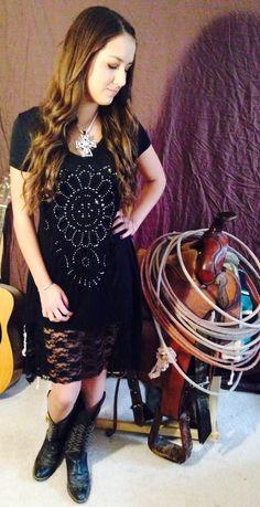 Cowgirl bling rhinestone lace dress @ Martin wear