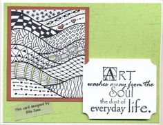 Zentangle Waves by scootsv - Cards and Paper Crafts at Splitcoaststampers