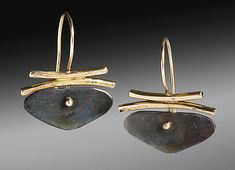 Butterfly Earrings by Peg Fetter (Gold & Silver Earrings) | Artful Home