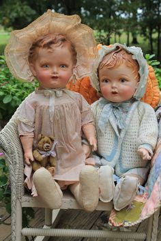 """Adorable 22"""" Early Antique Vintage Baby Doll Composition Cloth Jointed   eBay"""
