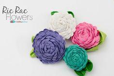 Ric Rac Flowers - The Ribbon Retreat Blog