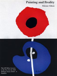"""Painting and reality"", by etienne Gilson, book cover, 1957, by Paul Rand (1914-1996)"
