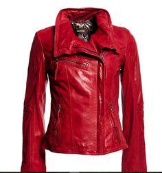 Red Danier leather jacket