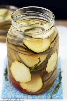 Easy Zucchini Refrigerator Pickles