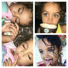 Beautiful eyes of twins from different countries.