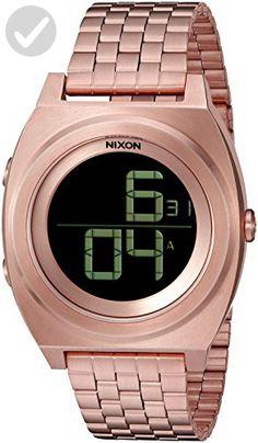 Nixon Men's 'Time Teller Digi' Quartz Stainless Steel Watch, Color:Gold-Toned (Model: A948-897-00) - Mens world (*Amazon Partner-Link)
