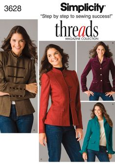 Amazon.com: Simplicity Sewing Pattern 3628 Miss/Miss Petite Jackets, K5 (8-10-12-14-16): Arts, Crafts & Sewing