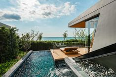 MASON, Pattaya, Thailand's ultra-modern luxury pool villas are a unique experience for honeymooners and romantic getaways for couples. Jungle Resort, Thai Design, Pattaya Thailand, Luxury Pools, Wallpaper Magazine, Tropical Landscaping, Diffused Light, Best Places To Travel, Brutalist